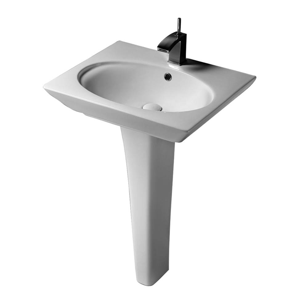 Barclay Complete Pedestal Bathroom Sinks item 3-371WH