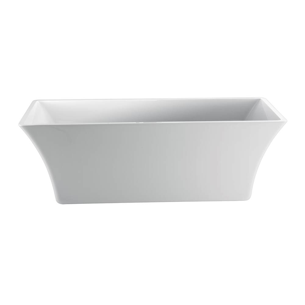 barclay tara rectangular acrylic tub no faucet holes white