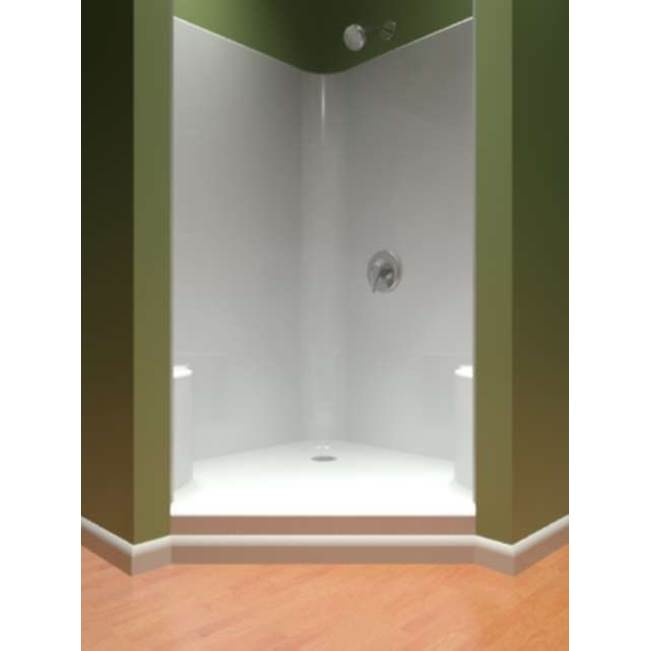 Diamond Tub And Showers Neo Angle Shower Enclosures item SNADS 492476