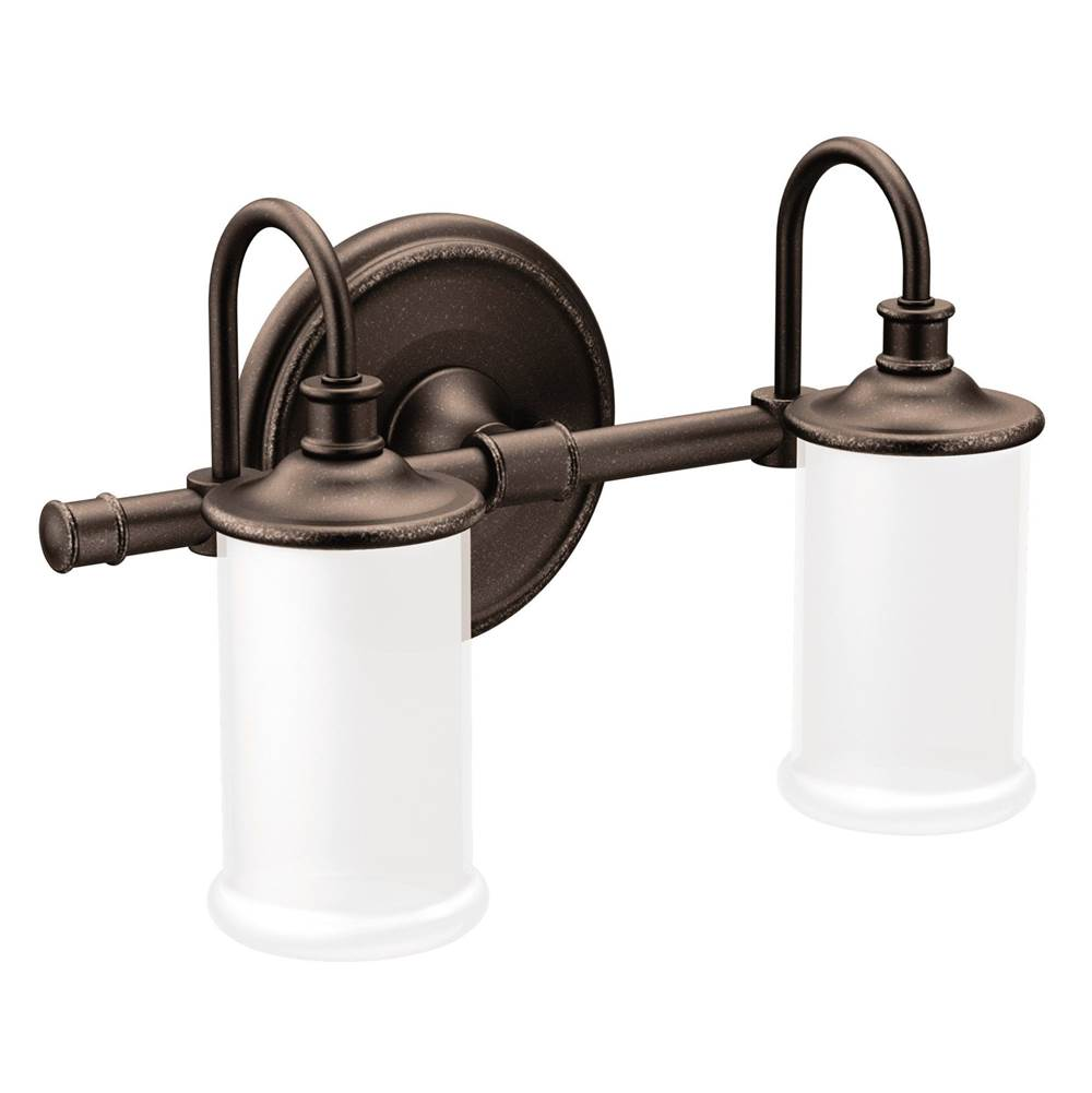 Moen Two Light Vanity Bathroom Lights item YB6462ORB