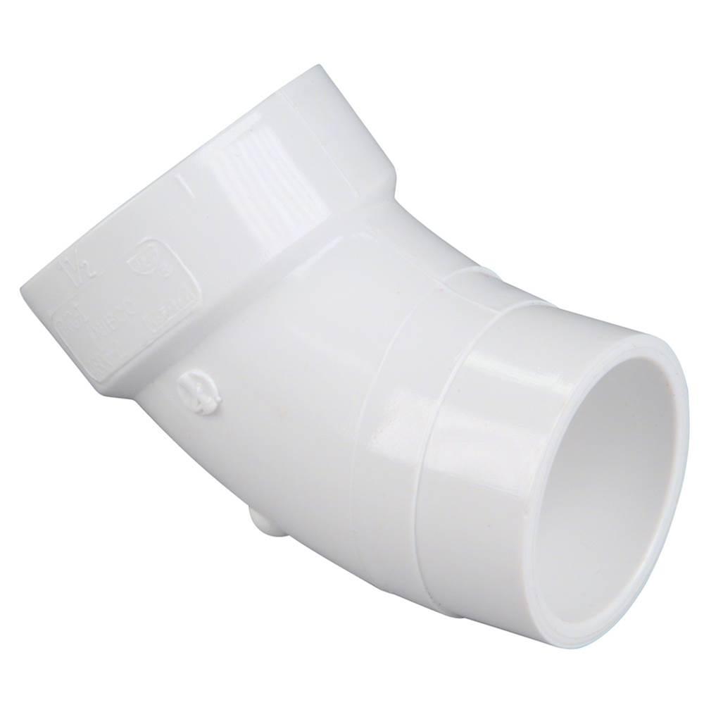 48072LT 4 Spg x Hub 90 Street Long Turn Elbow PVC